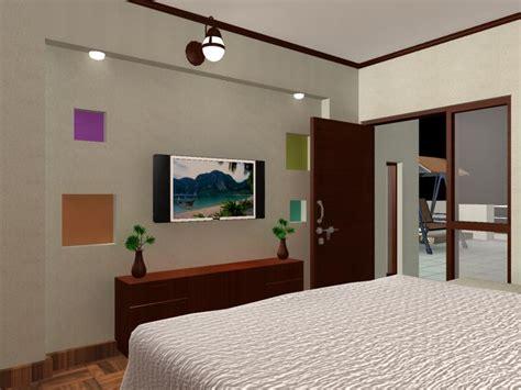 Bedroom Design Tv Wall by Bedroom Tv Wall Unit Design Gharexpert