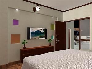 bedroom TV wall unit design