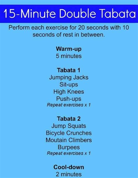 Infographic Minute Tabata Training Workout