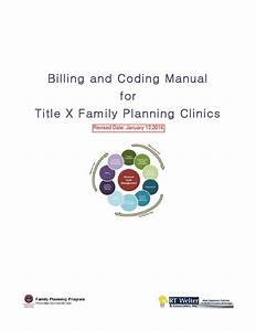 Title X Billing And Coding Manual 2016