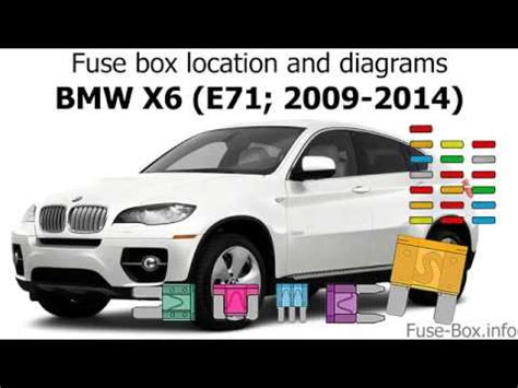 bmw x6 fuse box wiring diagram tutorial