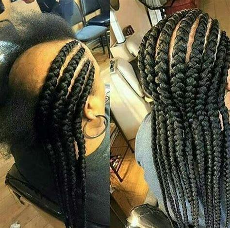 stylish big box ghana weave braids  african