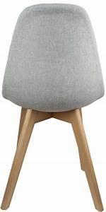 Pied Bois Scandinave : chaise scandinave en tissu et pieds en bois lot de 2 gris ~ Teatrodelosmanantiales.com Idées de Décoration