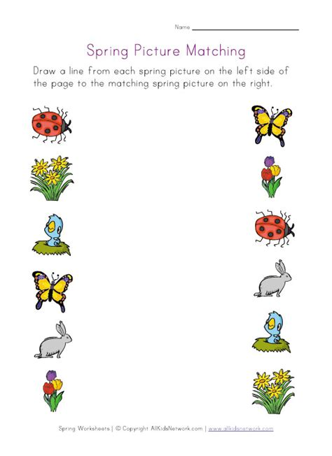 printable matching worksheets for toddlers preschool worksheet printables picture matching