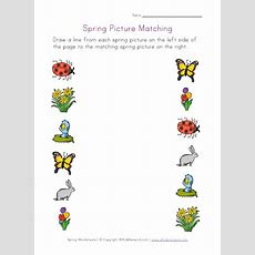 Spring Picture Matching Worksheet