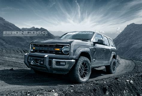 jeep off road silhouette rendering 2020 ford bronco four door suv looks ready to