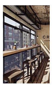 Industrial Coffee Bar Interior on Pantone Canvas Gallery
