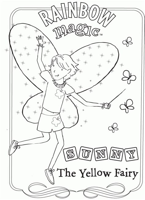 rainbow magic coloring pages    print