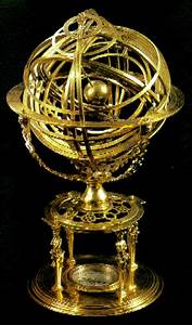 The armillary sphere. This example was made in the 1560s ...