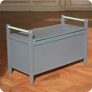 Banc Coffre Enfant : meubles vintage rangements banc coffre vintage bleu ardoise fabuleuse factory ~ Teatrodelosmanantiales.com Idées de Décoration