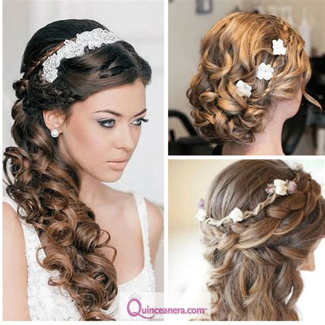 hairstyles  curly hair quinceanera hairstyles hair