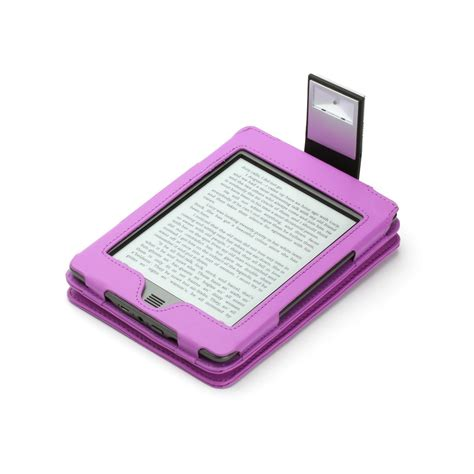 kindle touch cover with light purple genuine leather case for kindle touch with slim led