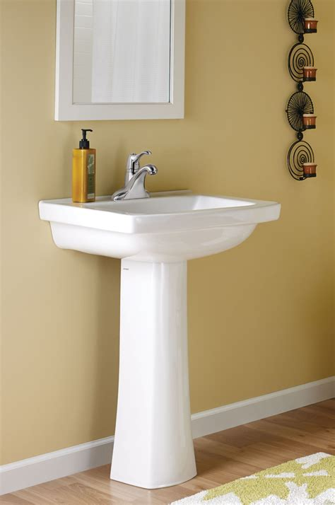 Gerber Blaze Pedestal Sink by Decorative Lines Throughout Collection For Residential Pro