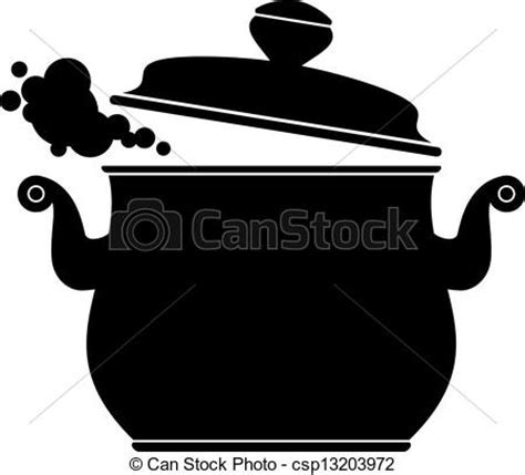 Cooking pan (silhouette) over white. eps 10, ai, jpeg.