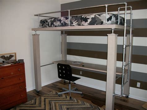 loft bed with desk underneath full size bunk bed with desk underneath bedroom black and