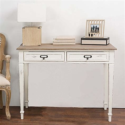 writing desk for bed baxton studio dauphine writing desk in white bed bath