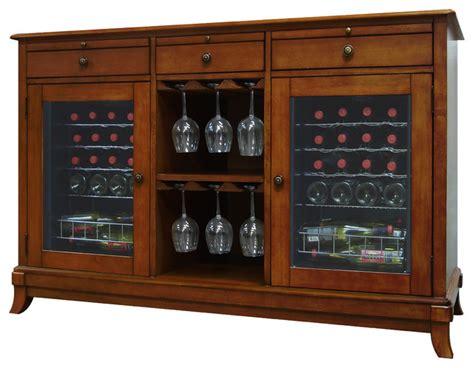 Trilogy Wine Credenza - cava 36 bottle wine credenza traditional wine racks