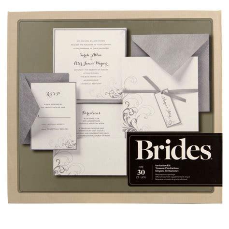 brides 174 silver and white pocket invitation kit diy