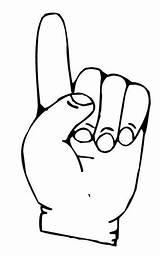 Finger Coloring Dedos Dibujos Colorear Fingers Pointer Pintar Rule Template General sketch template