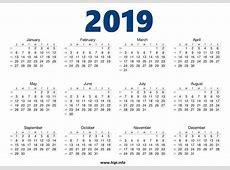Calendar 2019 free Download 2019 Calendar Printable with