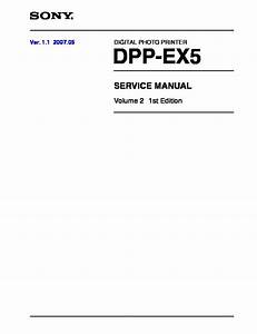 Sony Dpp-ex5 Service Manual