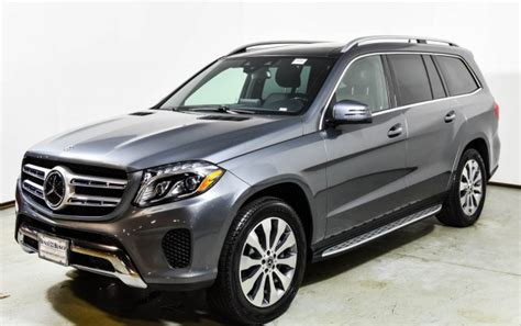 This 450 4matic variant comes with an engine putting out and of max power and max torque respectively. 2018 Mercedes-Benz GLS 450 4MATIC SUV | Selenite Grey Metallic U15859