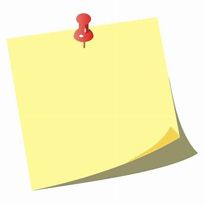 Note Paper Clipart Icon Sticky Vector Blank