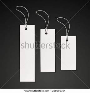 blank tags set design over black background stock vector With blank clothing labels