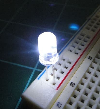 5mm flicker led white clear round top ten pack with
