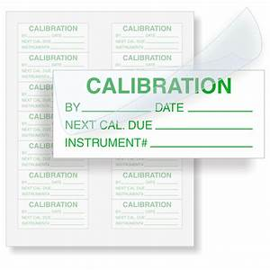 Calibration instrument for Custom calibration labels