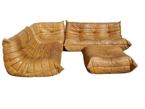 canapé cognac michel ducaroy canape togo sofa set 3 2 1 1 cuir fauve