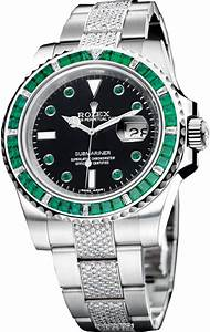 Rolex Submariner Diamond Emerald Baguette Unisex Watch