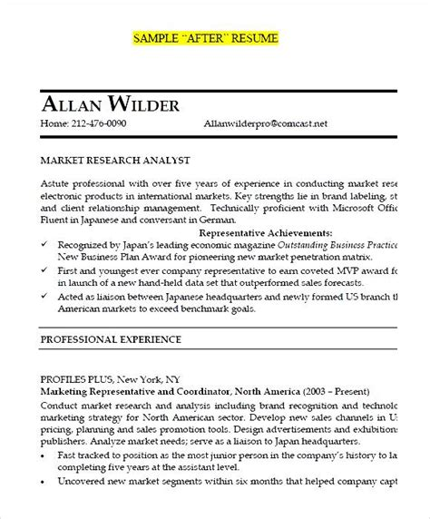 junior market research analyst after resume pdf free