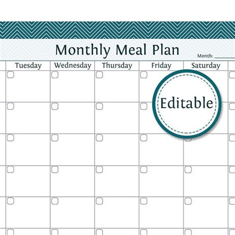 editable weekly meal planner search results for meal planner calendar 2015