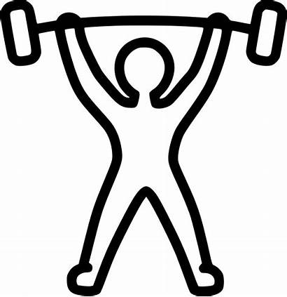 Powerlifting Clipart Weight Gym Icon Weightlifting Human