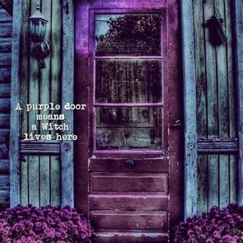 purple door means  witch lives  witch cottage