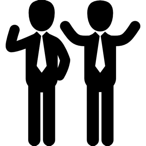 wave businessman reception people greeting icon