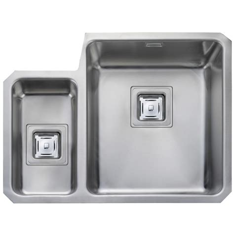rangemaster kitchen sinks rangemaster atlantic 1 5 bowl left undermount sink 1721