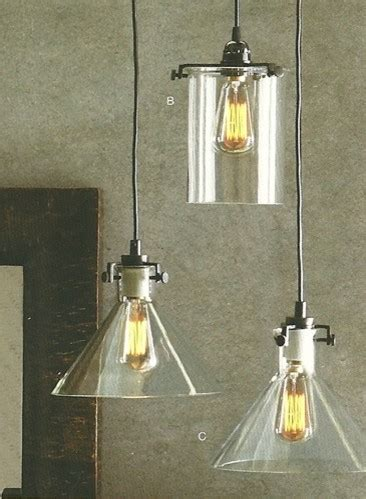 clear glass collection bronze 1 light pendant industrial