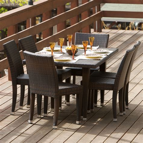 all weather wicker 7 outdoor patio dining set