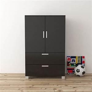 Armoire Noir Et Blanc : armoire chambre noire laquee ~ Preciouscoupons.com Idées de Décoration