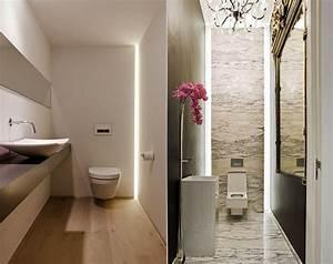Indirekte Beleuchtung Badezimmer : kleines bad modern gestalten mit einbauleuchten kreative lichtgestaltung und badgestaltung durch ~ Sanjose-hotels-ca.com Haus und Dekorationen
