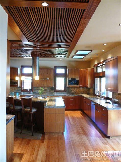asian style kitchen design 厨房绿可生态木吊顶效果图 土巴兔装修效果图 4194