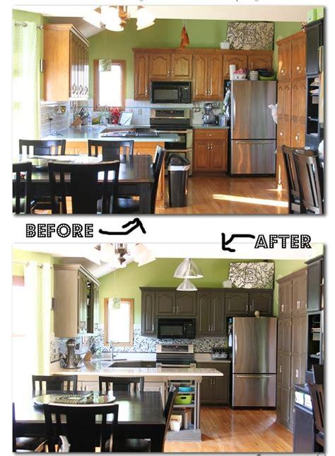 meuble de cuisine repeint peindre meuble cuisine avant apres images