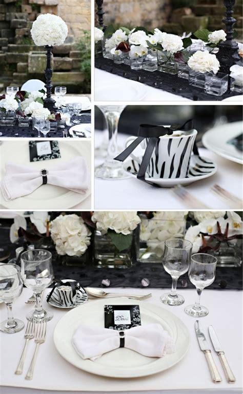 Schwarz Weiß Tischdeko by Tischdeko Hochzeit Schwarz Weiss Ideen Muster Hochzeit