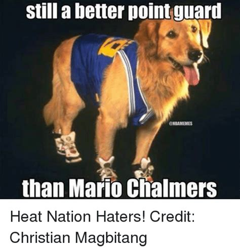 Mario Chalmers Meme - still a better point guard onbamemes than mario chalmers heat nation haters credit christian