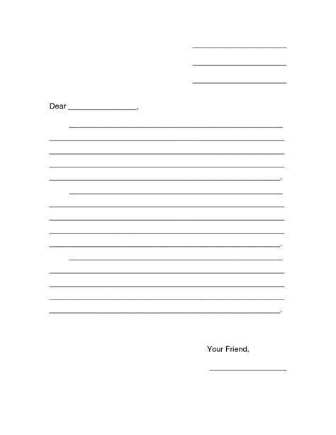business letter format printable business