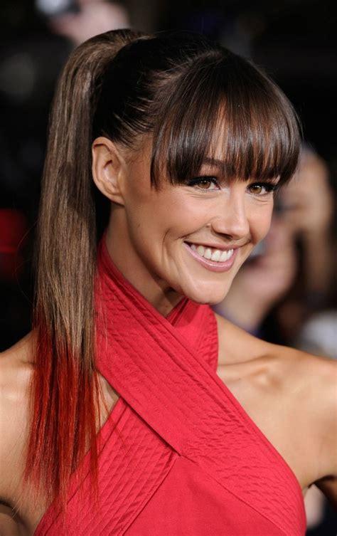 ponytails hairstyles  bangs work