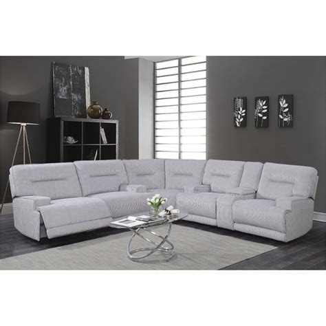 sterling gray  piece power reclining sectional sofa