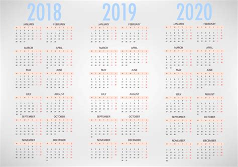 calendario plantilla simple del vector